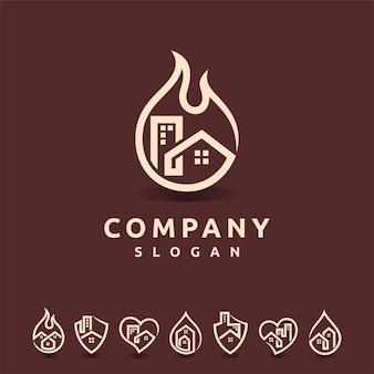 Logotipo da imobiliária com várias formas