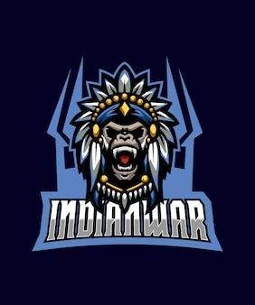 Logotipo da indianwar esports