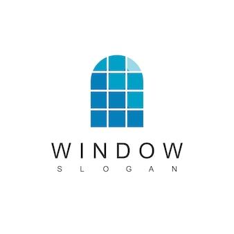Logotipo da janela, símbolo imobiliário moderno