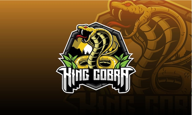 Logotipo da king cobra esport, logotipo do emblema da cobra-rei