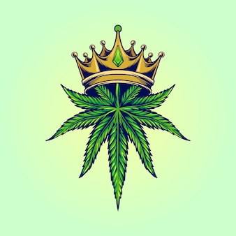 Logotipo da king marijuana