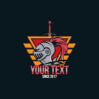 Logotipo da knight, logotipo do knight head warrior para jogadores de esportes