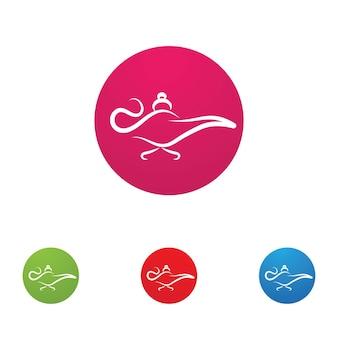 Logotipo da lâmpada mágica e imagem vetorial de ícone