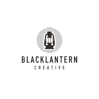 Logotipo da lanterna preta