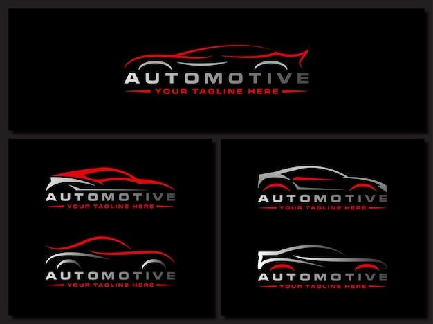 Logotipo da lavagem de carros carro automobiler carro de corrida design automotivo