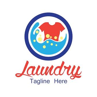 Logotipo da lavanderia com espaço de texto para o seu slogan