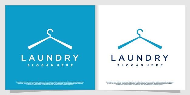 Logotipo da lavanderia com estilo de elemento criativo premium vector parte 2