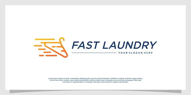 Logotipo da lavanderia com estilo de elemento criativo premium vector parte 4