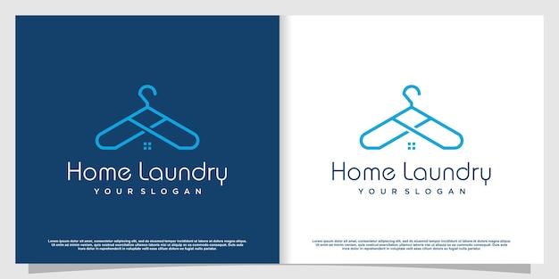 Logotipo da lavanderia com estilo de elemento criativo premium vector parte 5