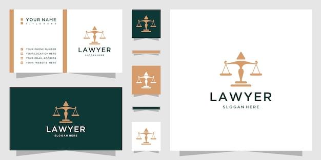 Logotipo da lei com cartão de visita