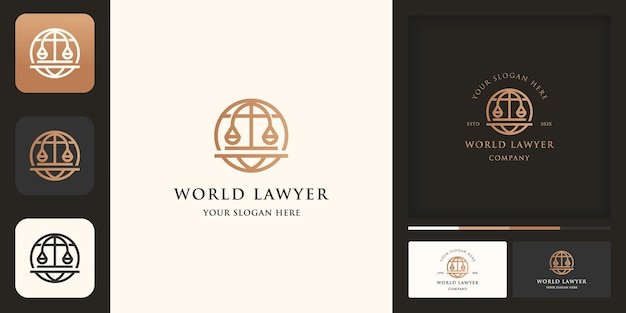 Logotipo da lei global, globo com escalas legais