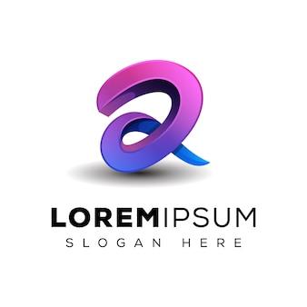 Logotipo da letra 3d