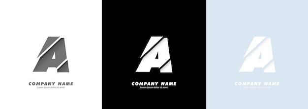 Logotipo da letra a do alfabeto da arte abstrata. design quebrado.