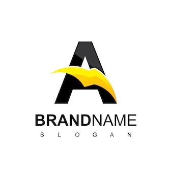 Logotipo da letra a thunder bolt energy
