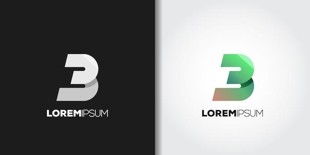 Logotipo da letra b verde