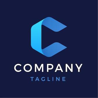 Logotipo da letra c abstrata moderna