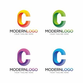 Logotipo da letra c com cor diferente