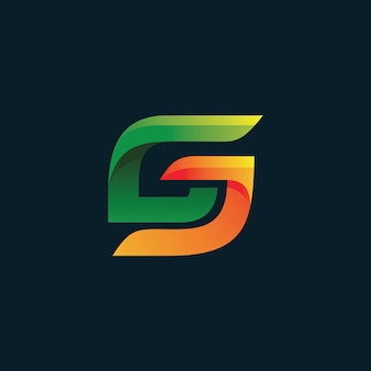 Logotipo da letra c e j