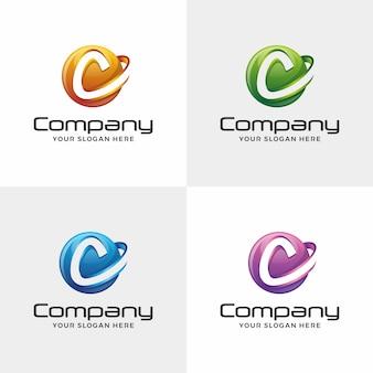 Logotipo da letra c. logotipo do círculo,