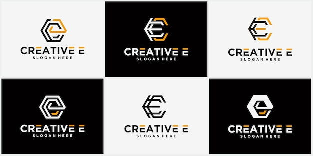 Logotipo da letra c logotipo hexagonal, ícone, símbolo, linha do infinito inicial, letra c, modelo de design de logotipo