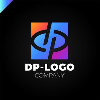 Logotipo da letra d e letra p