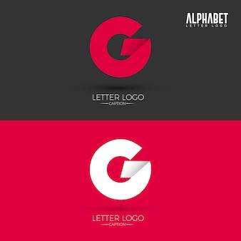 Logotipo da letra do estilo g de origami
