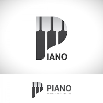 Logotipo da letra do piano p