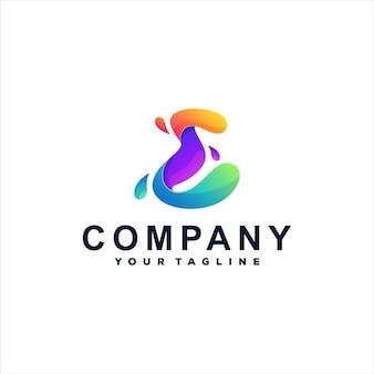Logotipo da letra e gradiente