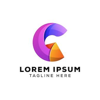 Logotipo da letra g abstrato colorido
