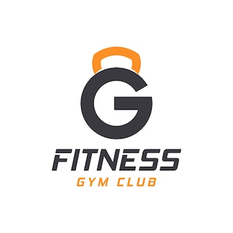 Logotipo da letra g com barra. logotipo do ginásio de fitness. design de logotipo de vetor de aptidão para ginásio e fitness.