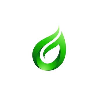 Logotipo da letra g da folha