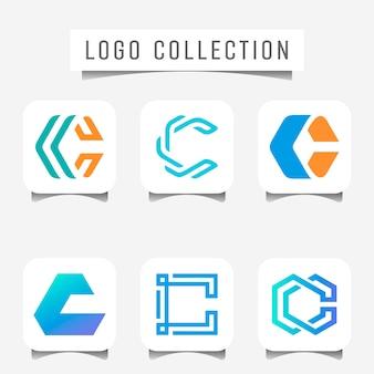 Logotipo da letra geométrica c