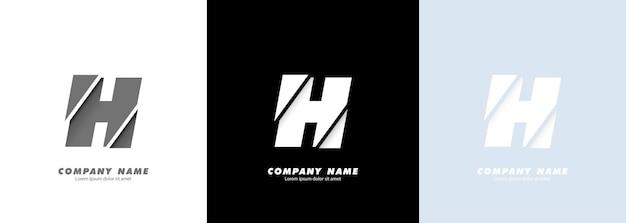 Logotipo da letra h do alfabeto da arte abstrata. design quebrado.
