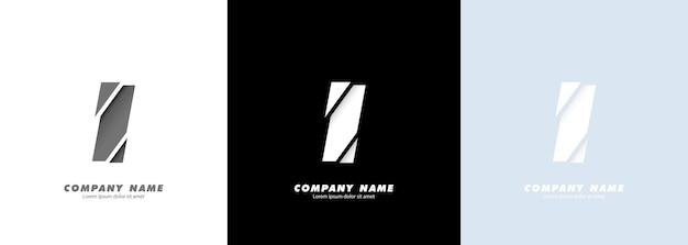 Logotipo da letra i do alfabeto da arte abstrata. design quebrado.