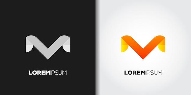 Logotipo da letra m do símbolo