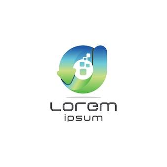 Logotipo da letra moderna d
