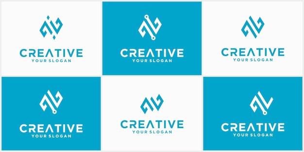 Logotipo da letra n tech, modelo de logotipo futurista na cor azul, logotipo comercial e de tecnologia, letra n tech
