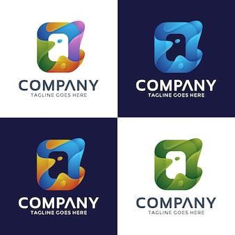 Logotipo da letra o com cor da opção.