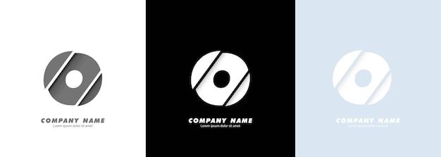 Logotipo da letra o do alfabeto da arte abstrata. design quebrado.