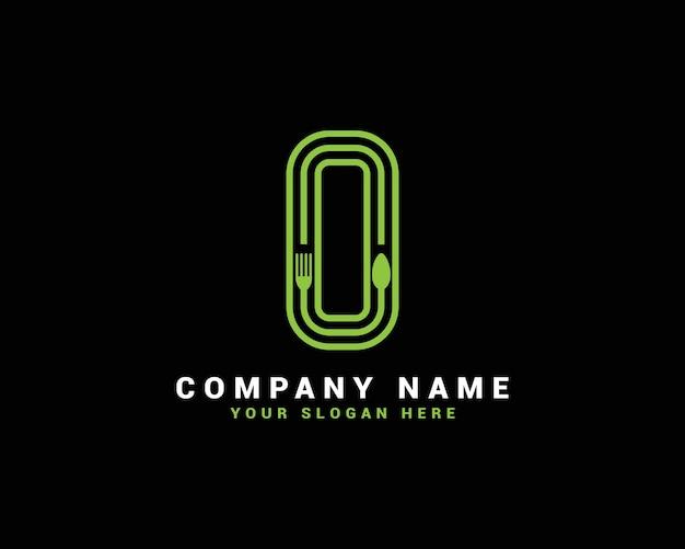 Logotipo da letra o, logotipo da letra o food, logotipo da letra o colher