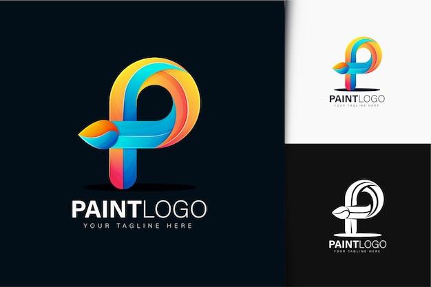 Logotipo da letra p com gradiente