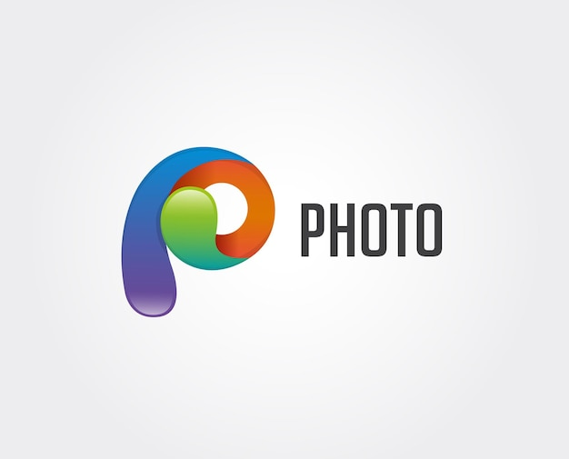 Logotipo da letra p inicial