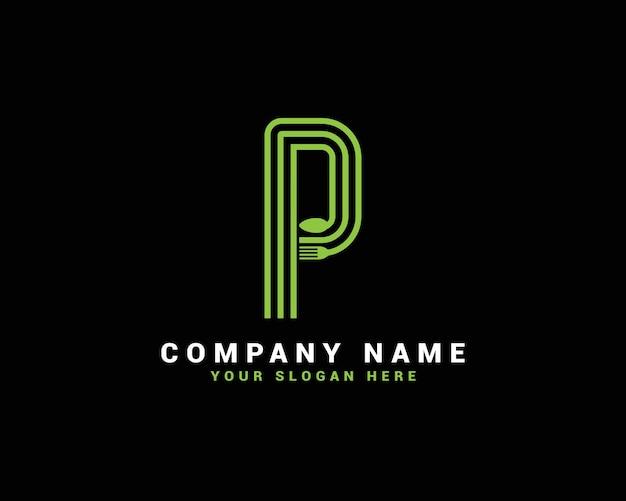 Logotipo da letra p, logotipo da letra p food, logotipo da letra p colher