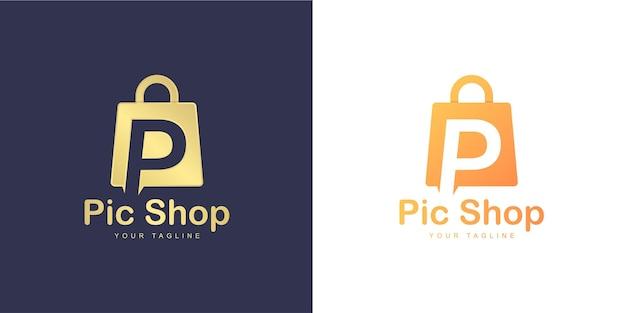 Logotipo da letra r minimalista com conceito de