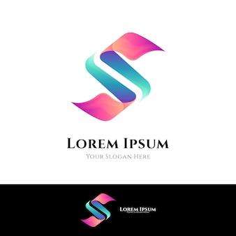 Logotipo da letra s abstrata