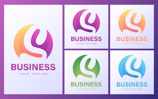 Logotipo da letra s colorido com um conceito moderno