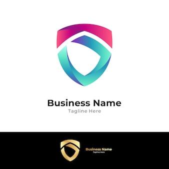 Logotipo da letra s de escudo simples