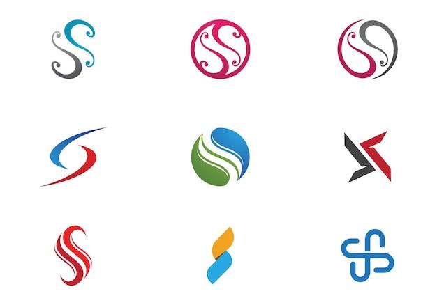 Logotipo da letra s, elemento de modelo de design de ícone de volume