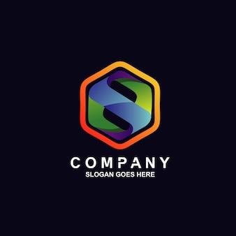 Logotipo da letra s em formato hexagonal