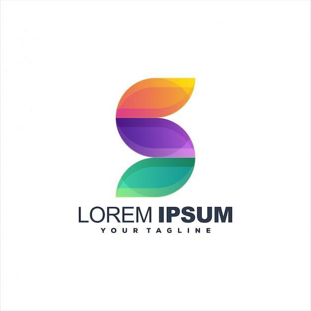 Logotipo da letra s impressionante